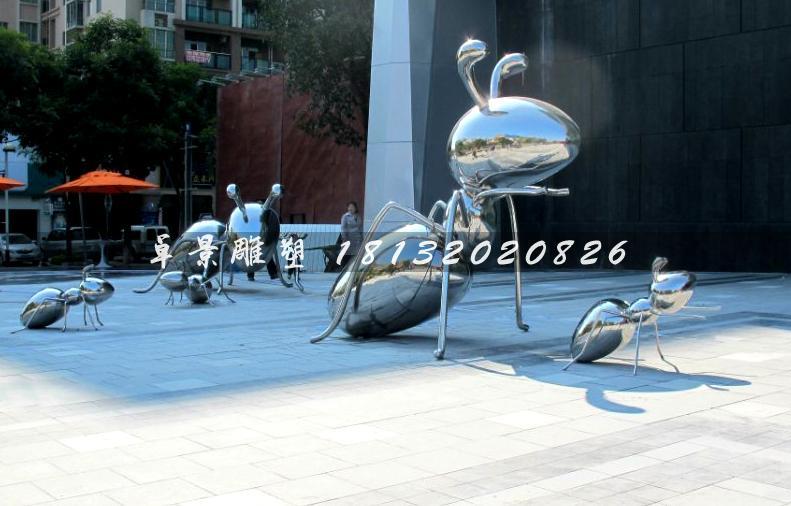 不锈钢太空蚂蚁-万科金色城市售楼广场