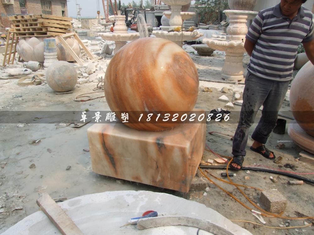 山西某商场定制的风水球雕塑
