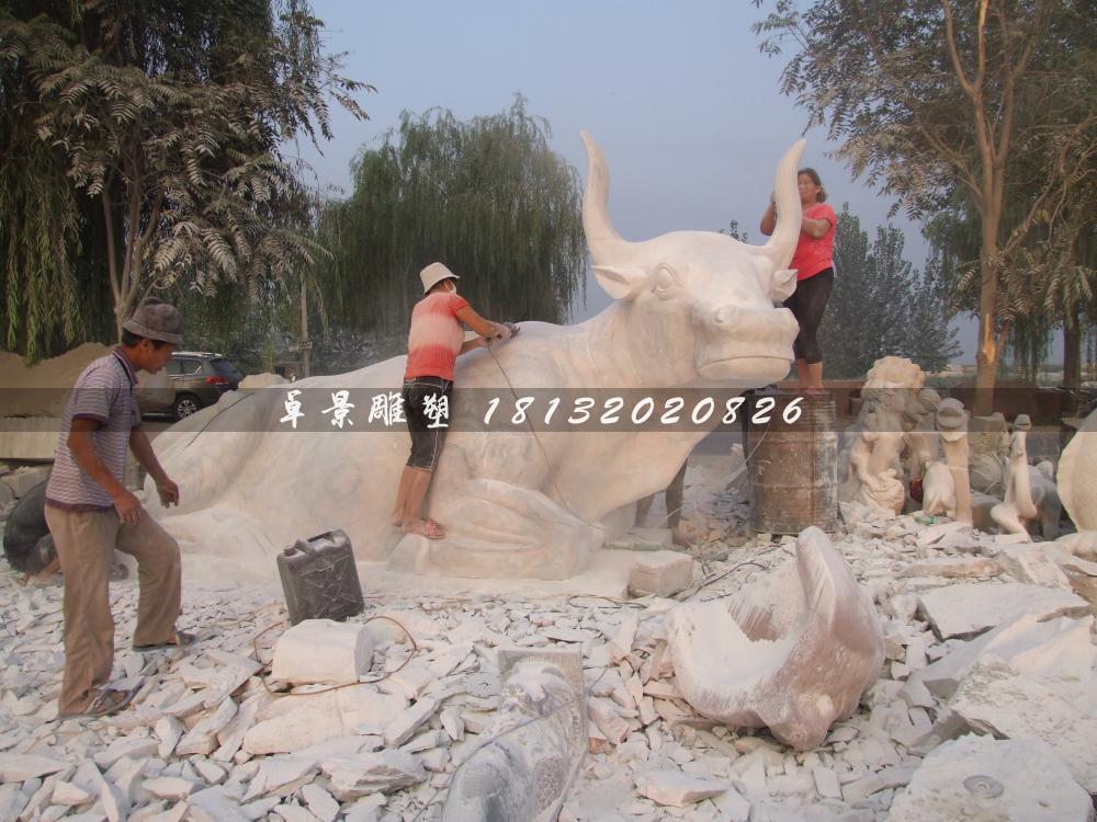 石头牛雕塑,石雕牛雕塑