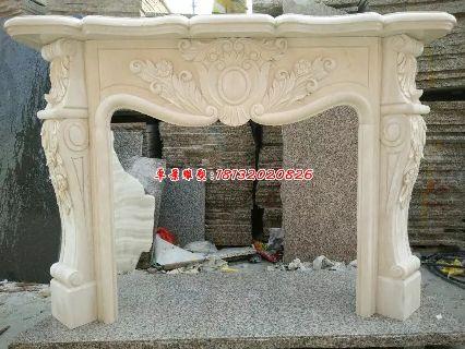 石头壁炉欧式石雕壁炉