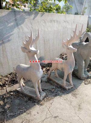 小鹿石雕小鹿石头雕塑