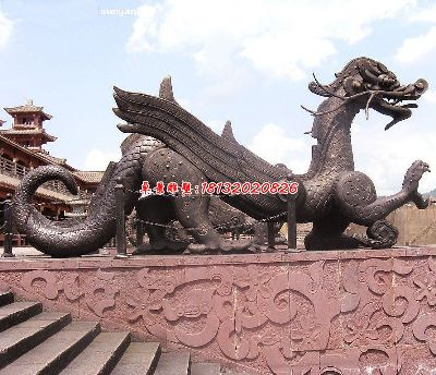 铜龙雕塑,广场龙铜雕