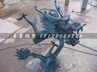铜龙雕塑,铸铜龙雕塑