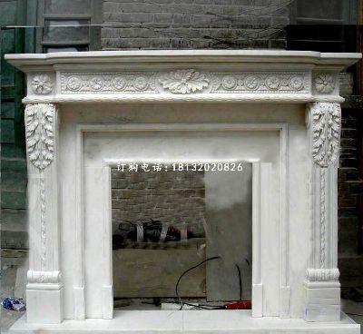 汉白玉壁炉,欧式壁炉雕塑