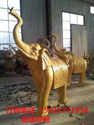 大象铜雕,铸铜大象雕塑