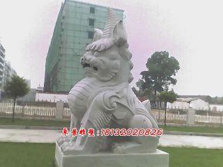 獨角獸石雕,法院獨角獸雕塑