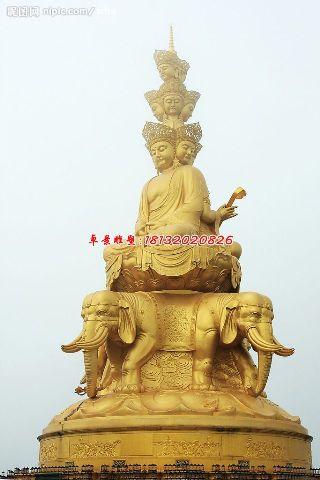 普贤菩萨铜雕,大型佛像雕塑