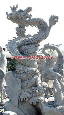 石雕龙雕塑,大理石龙雕塑
