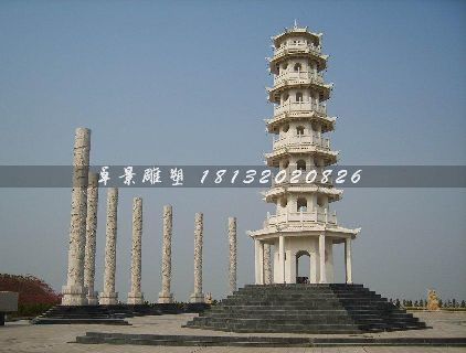 石塔,汉白玉石塔雕塑