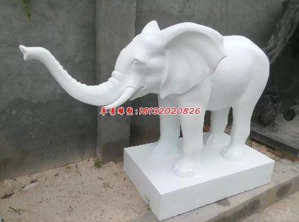 汉白玉大象,石雕大象