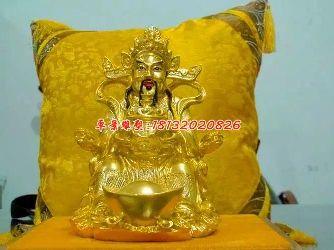 财神铜雕,贴金铜财神雕塑