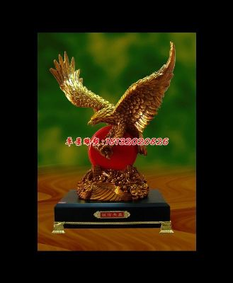 老鹰铜雕,诚信共赢铜雕,企业铜雕