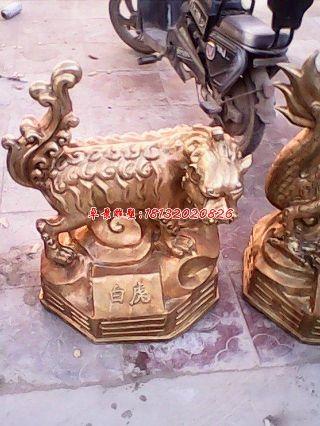 白虎铜雕,古代神兽铜雕