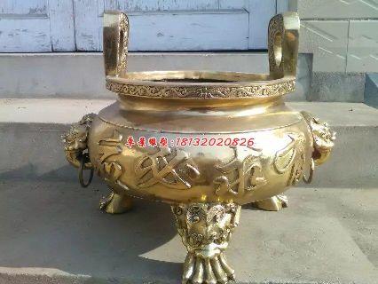 铜雕香炉,寺庙铜香炉雕塑