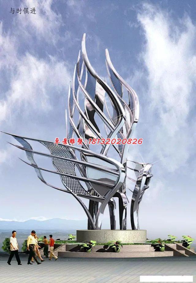 不锈钢广场雕塑,大型不锈钢雕塑