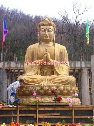 大型佛像雕塑,如来佛祖铜雕
