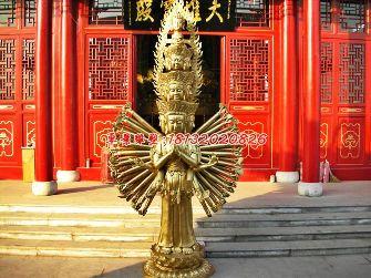千手观音铜雕,寺庙佛像雕塑