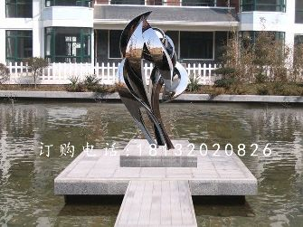 不锈钢抽象艺术雕塑,广场