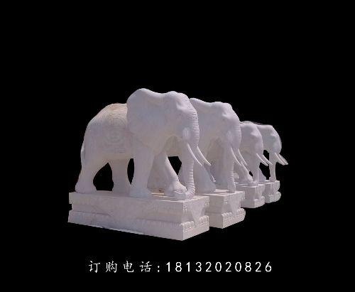 石雕大象,石雕动物雕塑