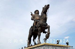 铜雕人物骑马,广场景观雕塑