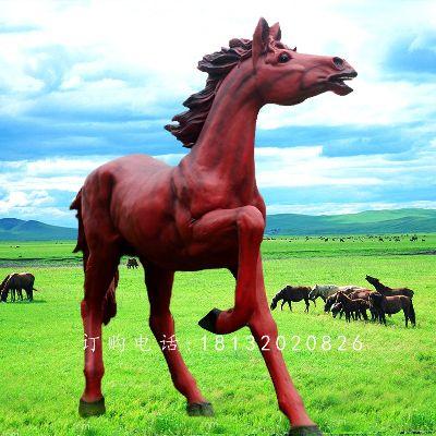 玻璃钢马,玻璃钢仿真马雕塑