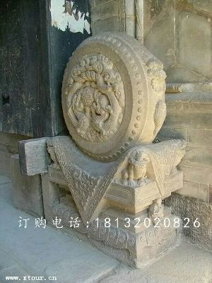 石雕门墩,仿古石墩