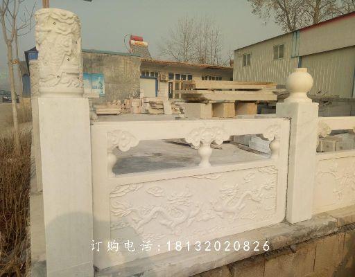 双龙戏珠石浮雕,石雕栏板