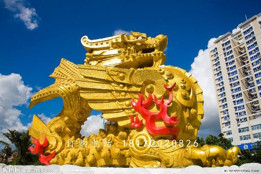铜雕麒麟,大型神兽铜雕