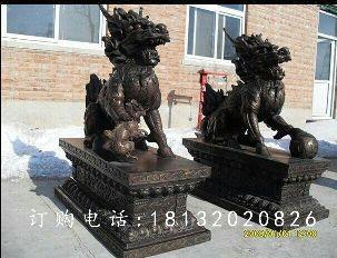 麒麟铜雕,黄铜麒麟雕塑