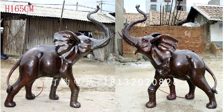 大象铜雕,广场动物铜雕