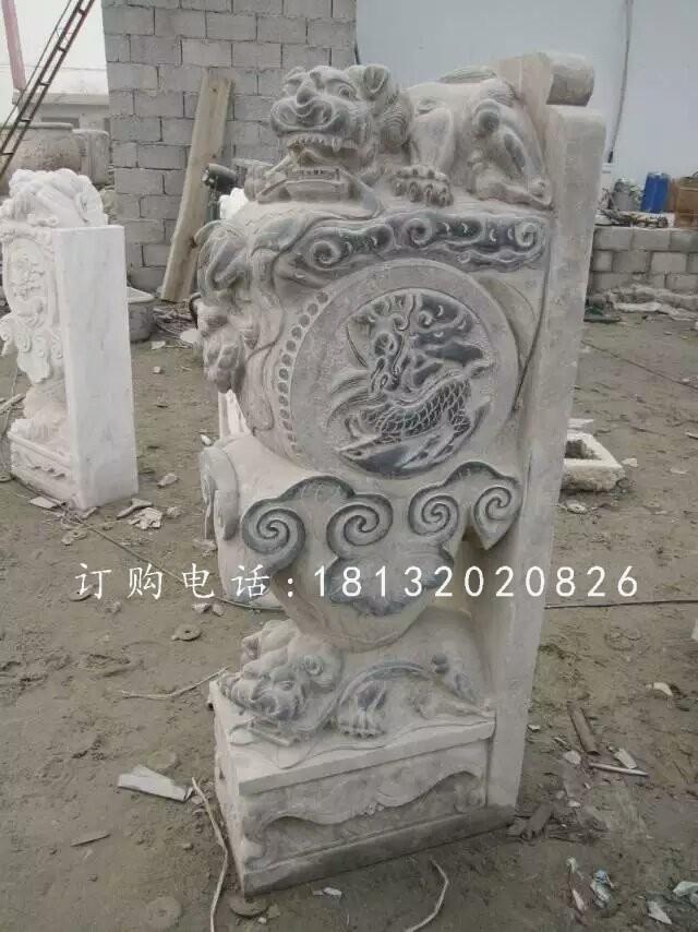 狮子门墩雕塑,仿古石雕门