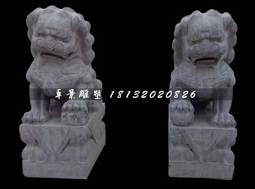 北京狮石雕,青石狮子