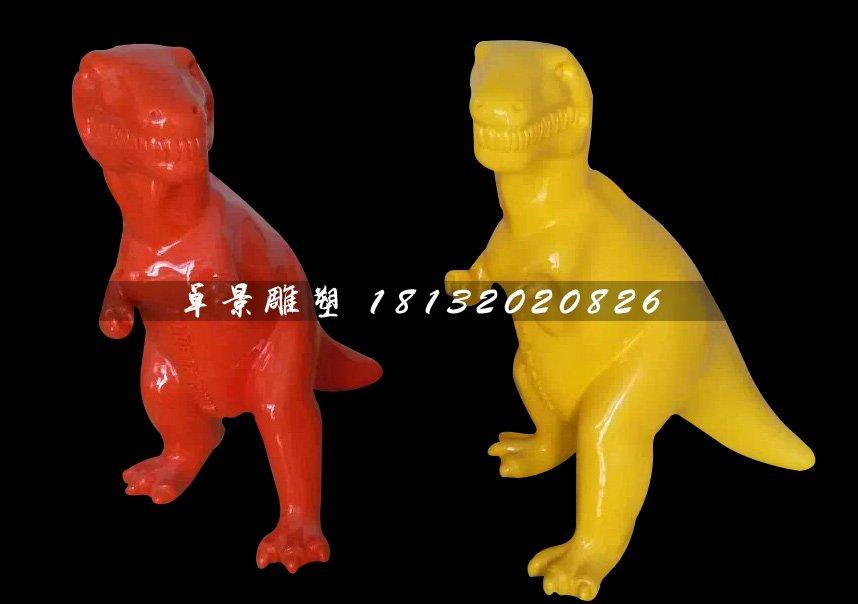 玻璃钢小恐龙雕塑,卡通恐龙雕塑