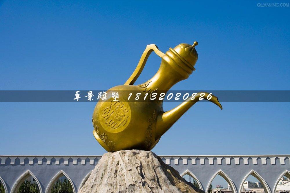 酒壶铜雕,城市标志雕塑