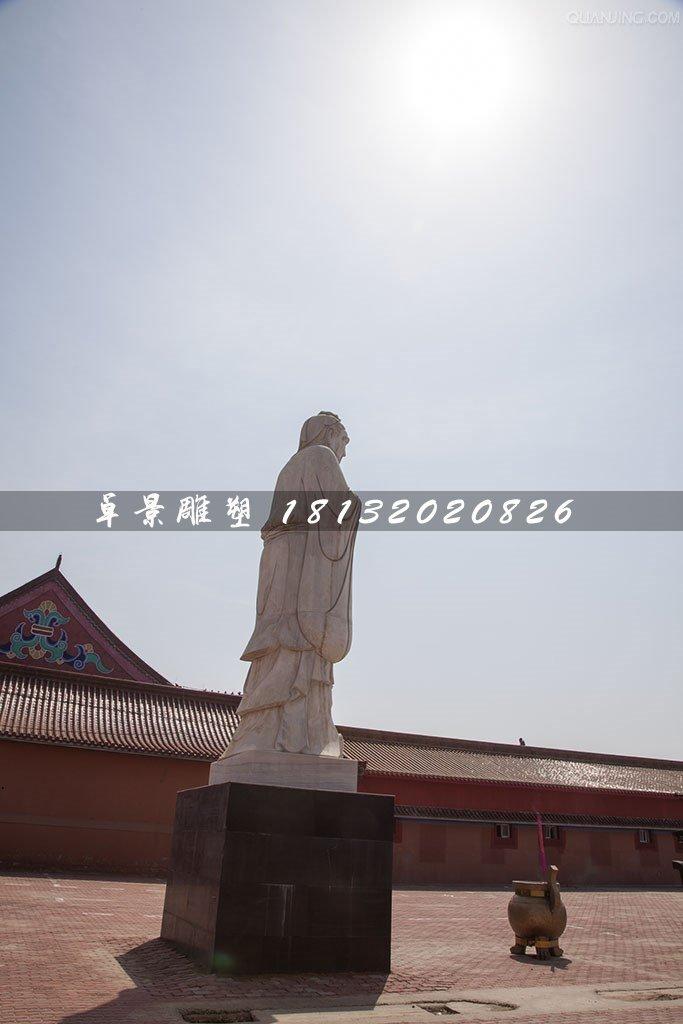 石雕孔子,校园古代名人石雕