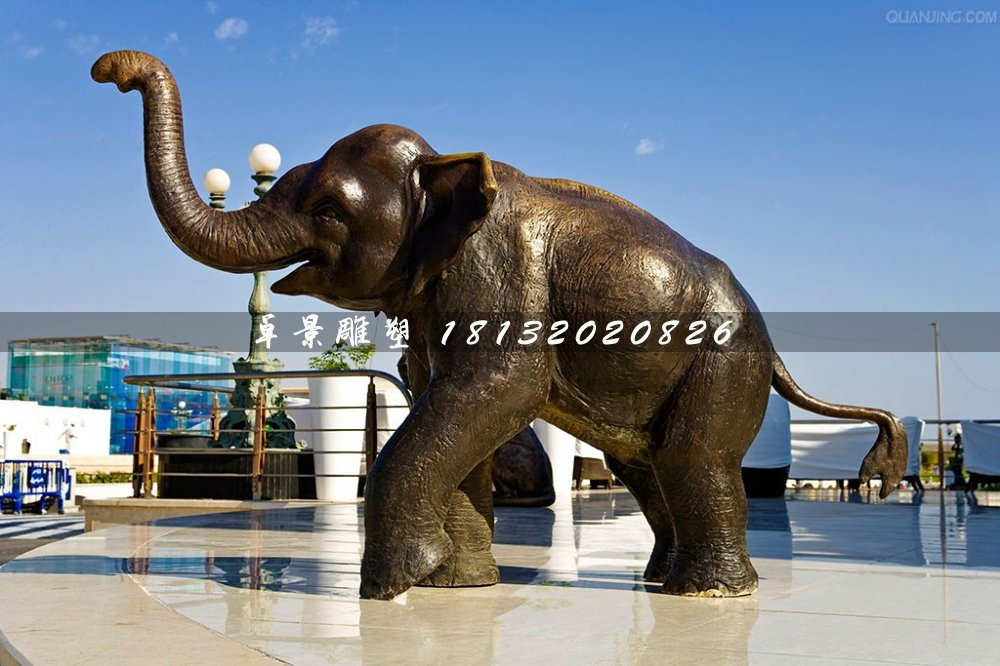 大象铜雕,广场大型动物铜雕