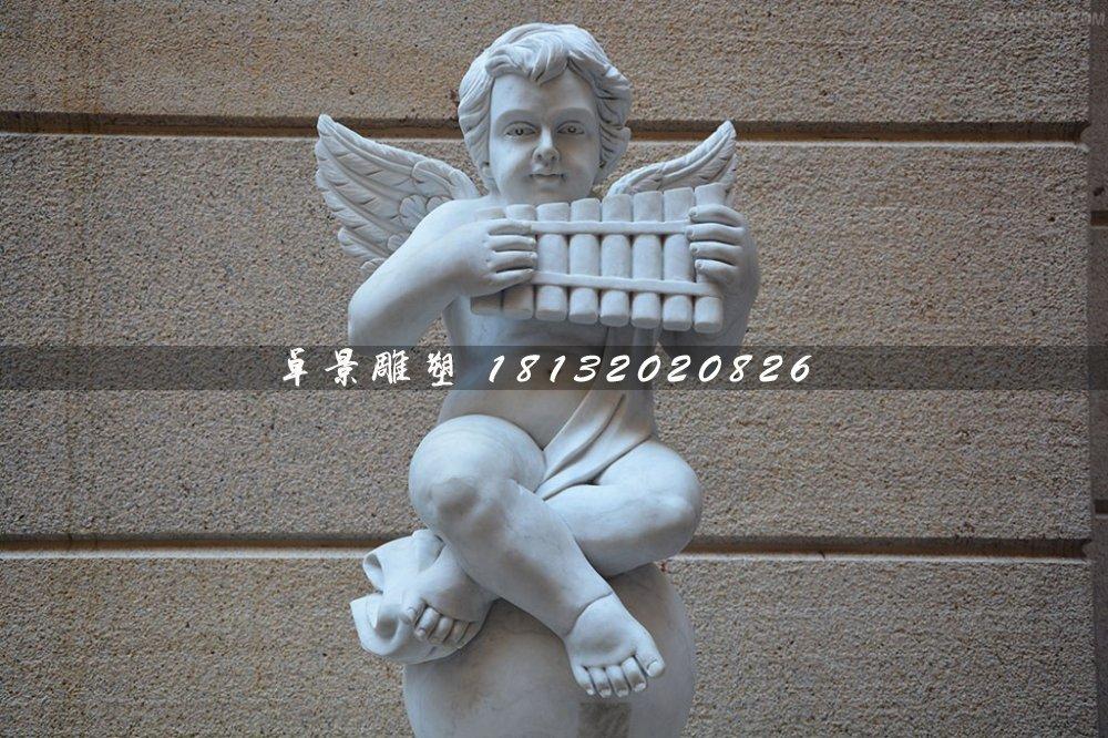 音乐小天使石雕,人物石雕