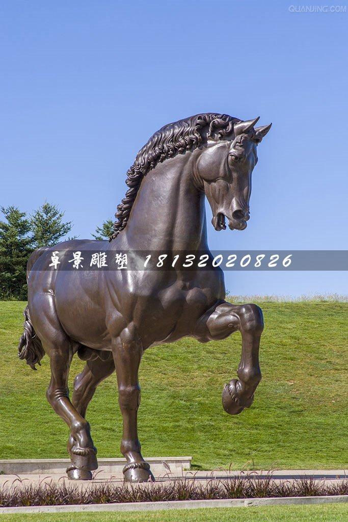 铜雕马,公园仿真铜马雕塑