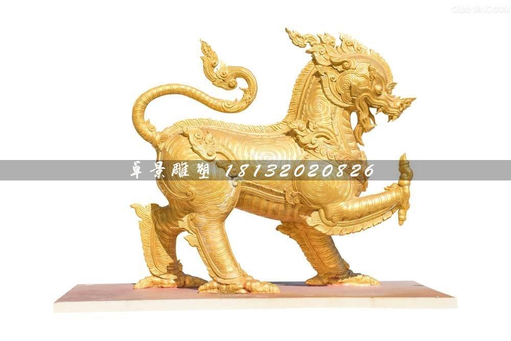 铸铜麒麟雕塑,广场神兽铜雕