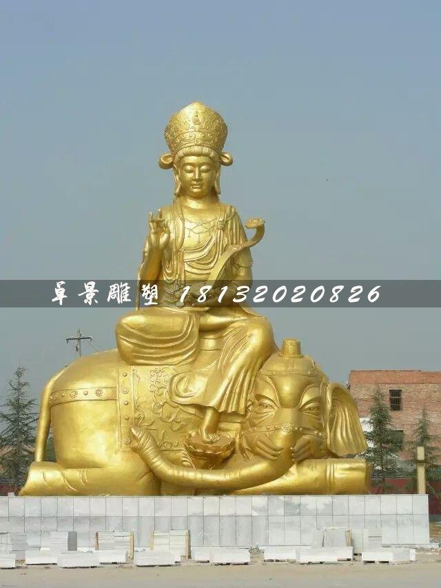 普贤菩萨雕塑,大型佛像铜雕