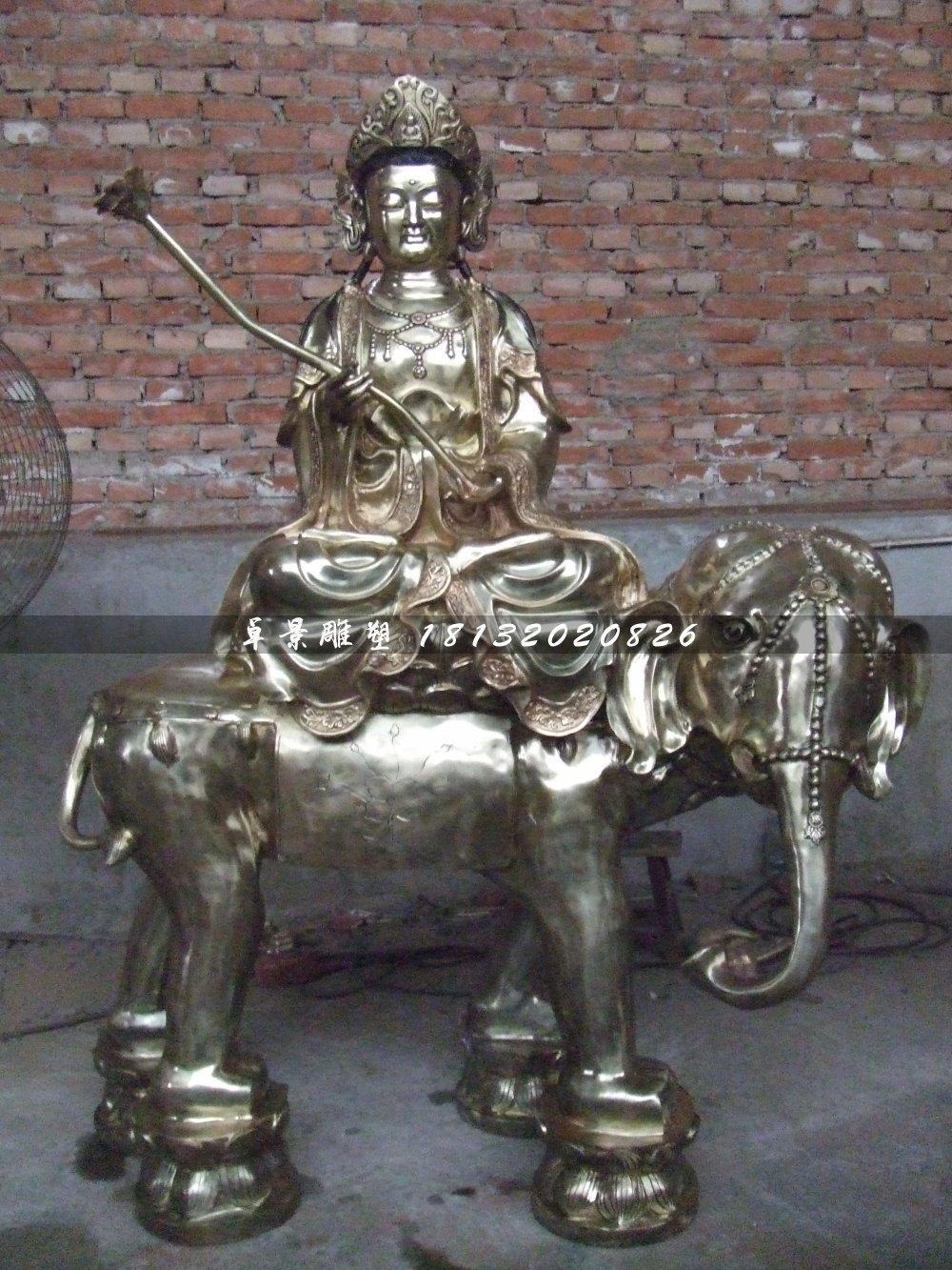 普贤菩萨铜雕,寺庙铜佛像