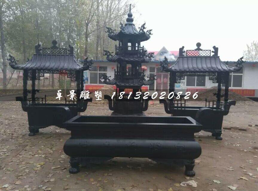 香炉铜雕,寺庙铜香炉