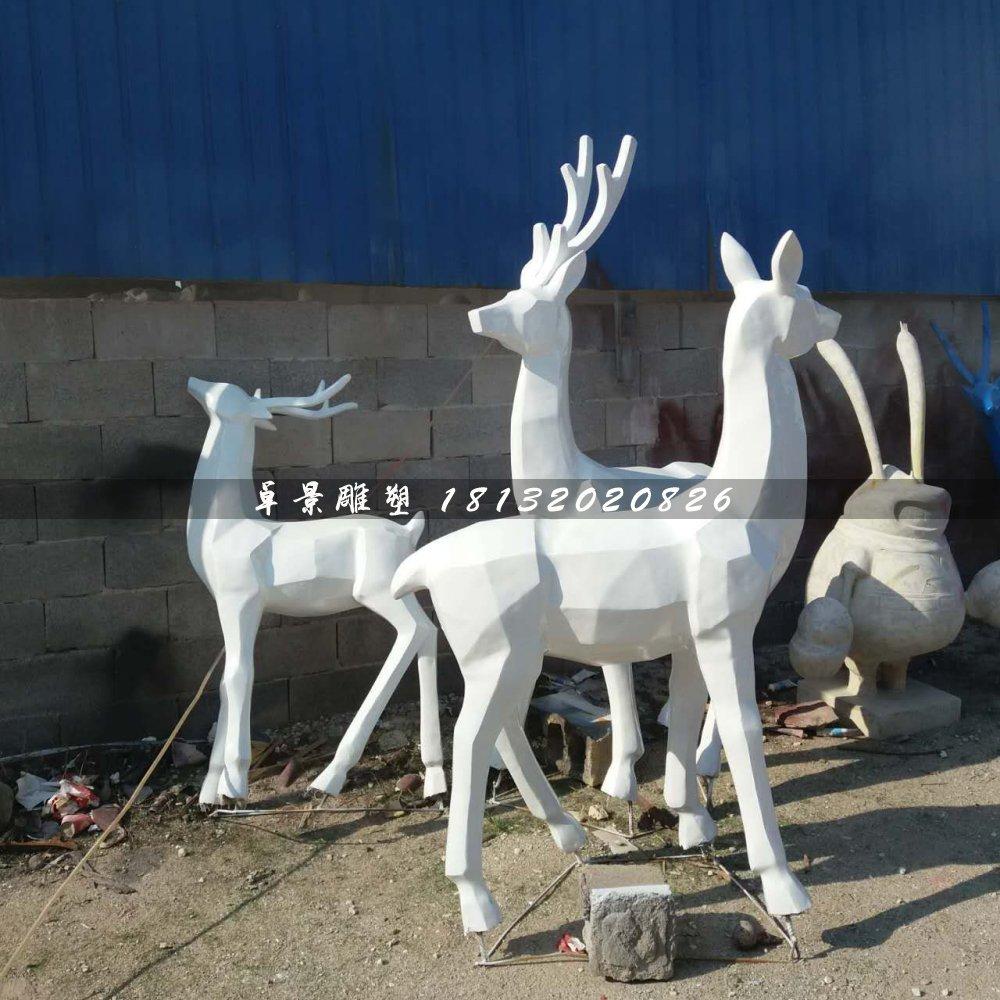 小鹿雕塑,玻璃钢抽象动物雕塑