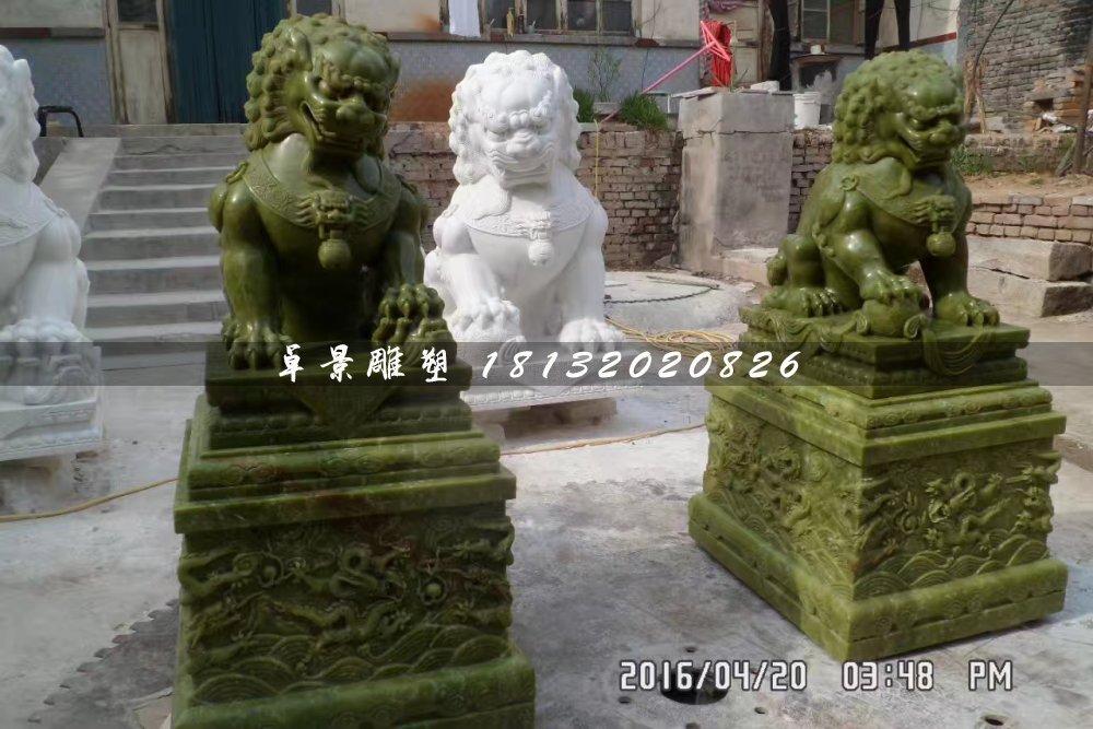 大理石狮子,动物石雕