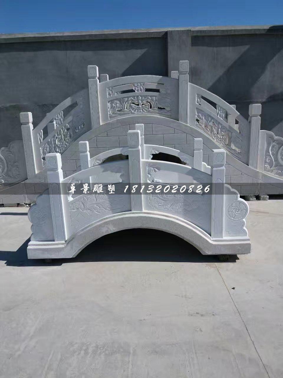 石桥雕塑,公园汉白玉小桥