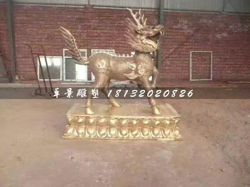 铜麒麟,广场神兽铜雕