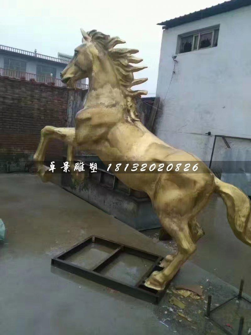 立马铜雕,广场铜马雕塑