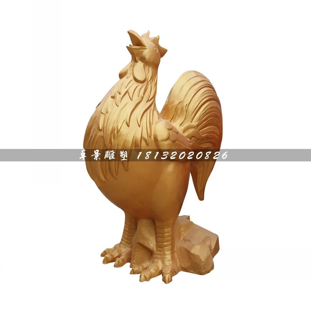 金鸡铜雕,公园动物铜雕