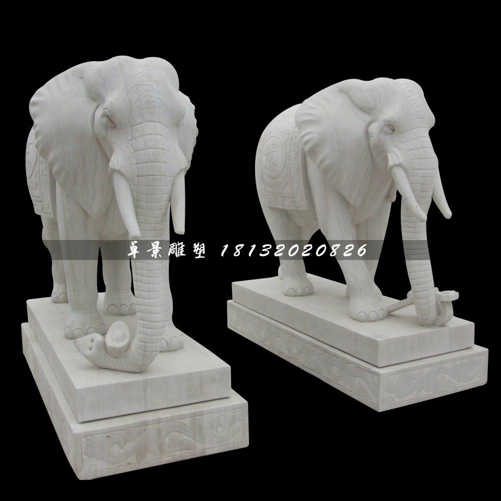 汉白玉大象石雕,动物石雕
