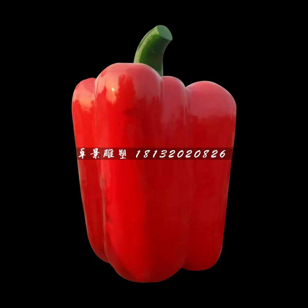 红椒雕塑,玻璃钢仿真蔬菜雕塑